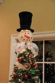 snowman tree topper tree