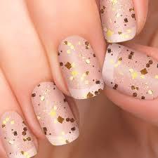 strike gold nail polish appliqués glitter top coat incoco