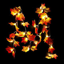 cppslee thanksgiving decorations light fall maple leaf garland
