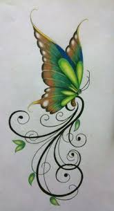 image result for black rose and butterfly tattoo tattoos