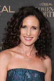 hairstyles for women over 50from loreal andie macdowell s shoulder length curls haute hairstyles for