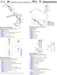 discovery i rear axle suspension rovers north classic land