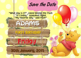 winnie the pooh invitation party printable save the date