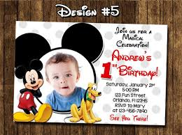 mickey mouse first birthday card mickey mouse 1st birthday