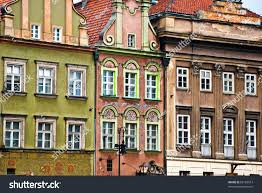 old european houses poland stock photo 66183013 shutterstock