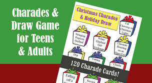 charades and holiday draw