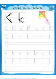 letter k handwriting worksheets for kindergarten letter k