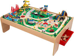 kidkraft waterfall mountain train set and table directions kidkraft wooden train table with 3 lines and 120 piece wooden designs