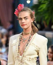 chanel haircuts chanel makes a strong case for floral hair accessories at the