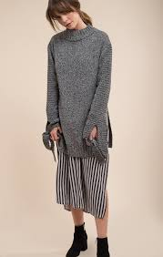slit sweater two tone side slit sweater moon river