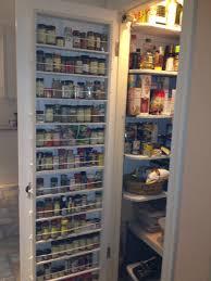 Kitchen Cabinet Door Storage Height Wooden Cabinet Door With Hanging Metal Spice Racks Storage