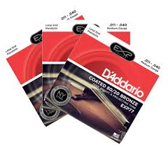 2 pack with free 3rd set d addario exp77 coated 80 20 bronze mandolin strings medium 24 gif