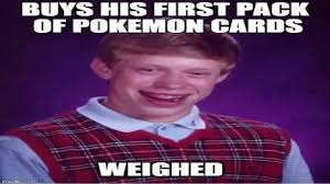 Pokemon Card Meme - don t weigh pokemon card packs youtube