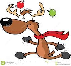 reindeer running clipart clipartxtras