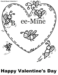 bee mine free valentines coloring pages valentine coloring pages