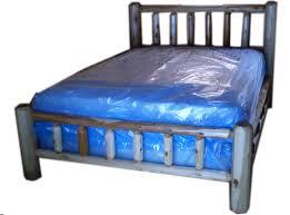 Log Queen Bed Frame Rustic Log Bedroom