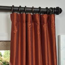 Burnt Orange Curtains Sale Eff Burnt Orange Vintage Faux Dupioni Silk Curtain Panel Free