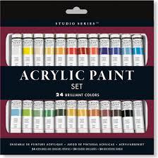 studio series acrylic paint set 24 colors peter pauper press 9781441321534 com books
