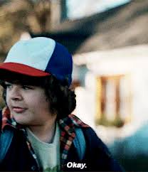 Okay Meme Gif - for everyone who s a little bit in love with dustin from stranger