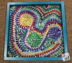 kids craft faux mosaic diva of diy