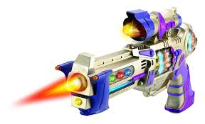 amazon com galactic space police gun toy for kids with spinning