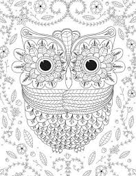 coloring page for adults owl big eyed owl adult coloring page favecrafts com