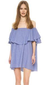 mlm label maison off shoulder gingham dress shopbop