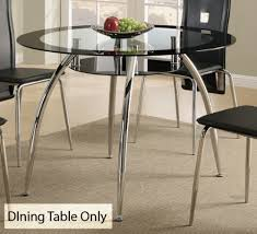 amazon com contemporary dining table w glass table top and