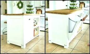 kitchen island with garbage bin kitchen island with trash bin white kitchen island with trash bin
