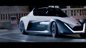 nissan sports car blue watch hollywood star margot robbie take nissan u0027s new concept car