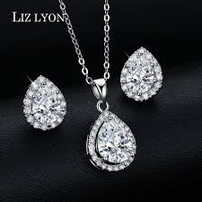 engagement jewelry sets online shop trendy engagement jewelry set pear shaped cz diamond