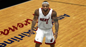 nba 2k14 lebron james cyberface w new tattoos nba2k org