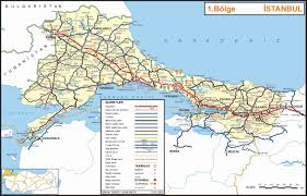 istanbul turkey map detailed road map of istanbul section of turkey istanbul section