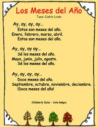 meses spanish months song u0026 coordinating printables flash cards