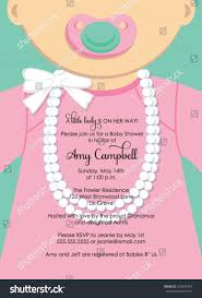 little lady baby shower invitation stock vector 225699724