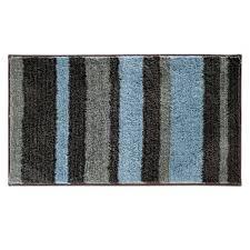 Brown Bathroom Rugs Interdesign Bath Rug Stripz Mocha Gray Steel Blue 21 X 34