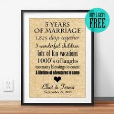 5 years anniversary gift 5 year wedding anniversary gift gift for by rusticmood diy