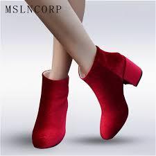 wedding shoes europe plus size 34 43 new fashion women ankle boots autumn