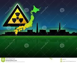 Fukushima Radiation Map Japan Map Fukushima Radioactivity Illustration Royalty Free Stock