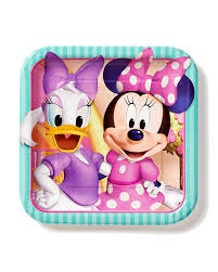 minnie mouse party supplies minnie mouse bowtique 9 in square plate pack of 8