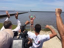 he made history moseley swims across lake pontchartrain wgno