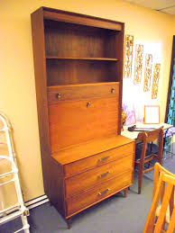 secretary desk with bookcase danish mid century modern drop leaf secretary desk regarding