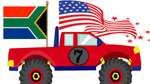 monster truck jam videos for kids monster truck stunts learn country flags for kids monster