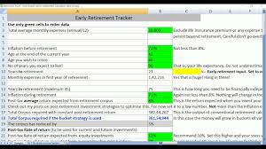 Retirement Calculator Excel Spreadsheet Early Retirement Tracking It On Excel Youtube