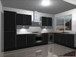 modern kitchen kitchen units complete with high gloss black doors