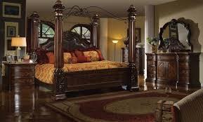 poster bed canopy b6003 mc ferran canopy bed bedroom set