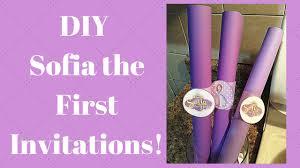 Scroll Invitations Diy Diy Sofia The First Invitations Youtube