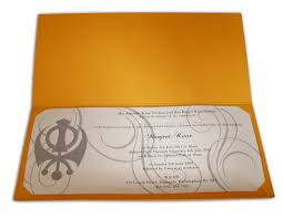 Sikh Wedding Cards Wording Abc 491 Sikh Saffron Akhand Path Invitations 0 35 Indian