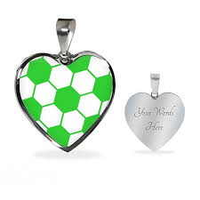 green heart pendant necklace images Soccer lime green heart pendant sports locker hq jpg