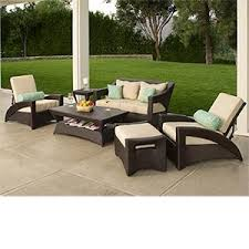 reclining patio chair with ottoman amazon com delivered pacific 6 pc deep seating collection includes